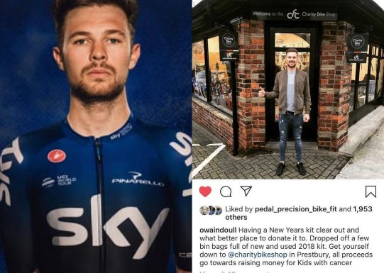 We're Team Sky's Owain Doull's biggest fan!